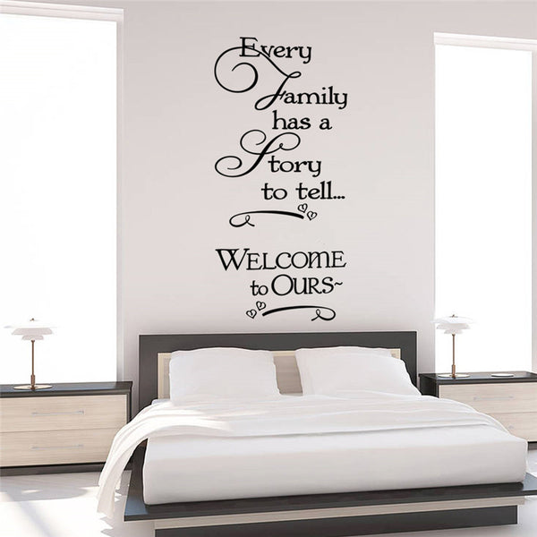 loving story quotes wall stickers decorations 8429. diy home decals vinyl art room mural posters adesivos de paredes 4.5