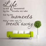 Life take our breath away words letters decor wall sticker wall decal 8215. home decoration diy 3.0 removable vinyl wall sticker