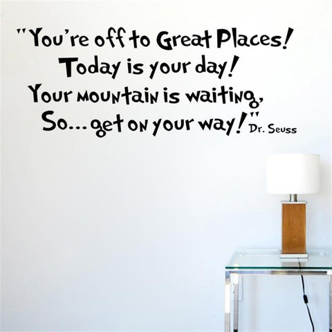 Today is your day get on your way home decor art letters wall stickers home decorations 8073. Dr.Seuss removable wall decals 2.5