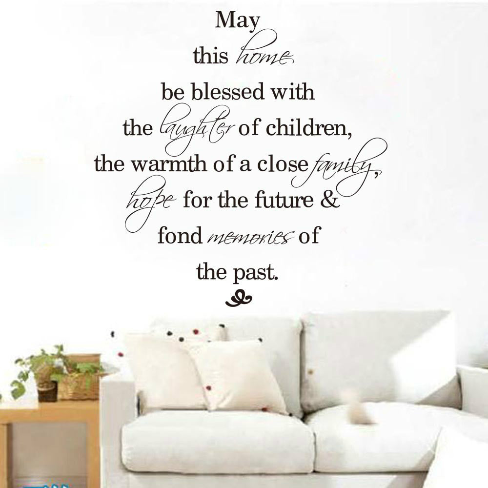 MAY this home be blessed quote wall sticker vinyl decal home room decor wedding living room decorative mura words