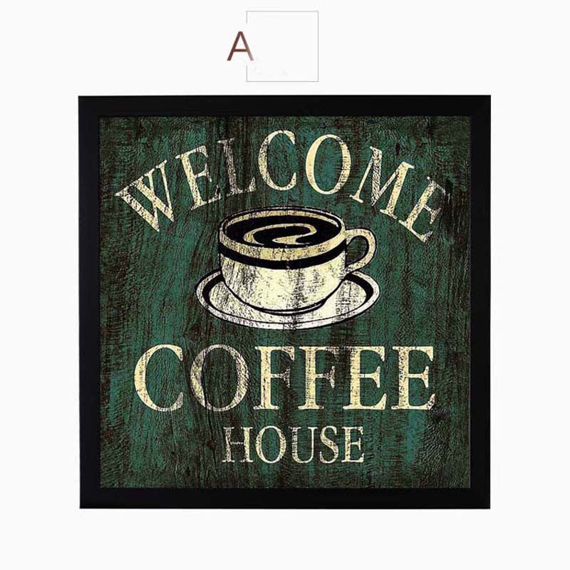 Coffee Canvas Painting Print Poster Modern Cuadros Art Canvas Painting Wall Pictures for Kitchen Bar Cafe Decor No Frame