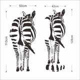 zebra horse wall stickers living bedroom decoration 8389. diy vinyl animals adesivo de paredes home decals art posters paper 3.5