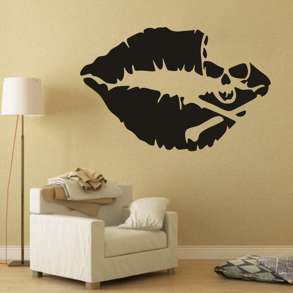 AYA DIY Wall Stickers Wall Decals,Halloween Decoration Skull & Mouth Design PVC Wall Stickers 81*52cm / 6*10cm