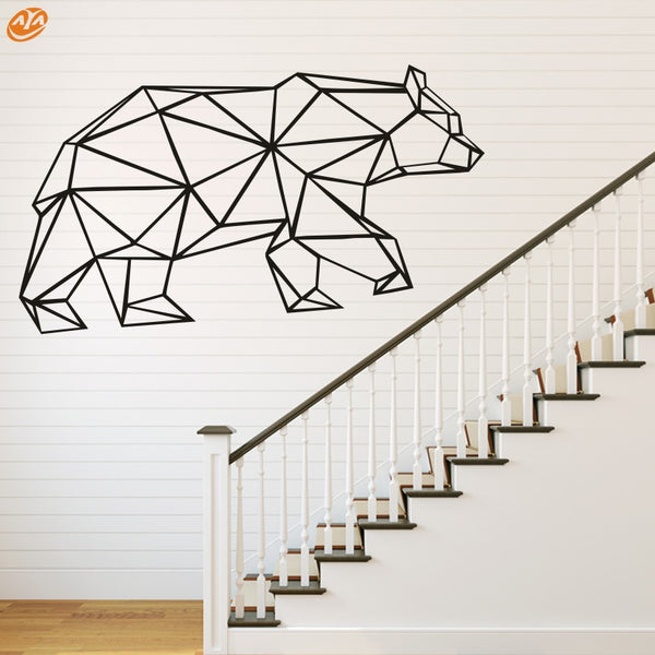 AYA DIY Wall Stickers Wall Decals, Geometric Bear  Wall Sticker Type PVC Wall Stickers M84*42cm/L111*56cm