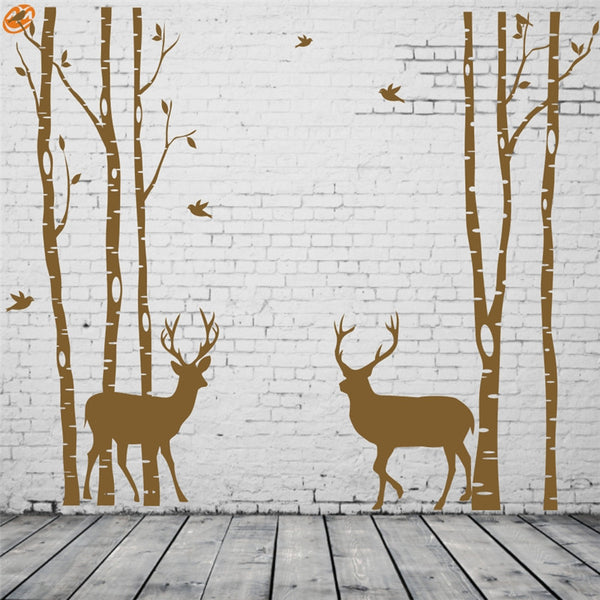 Christmas AYA DIY Wall Stickers Wall Decal,Tow Deer  PVC Wall Stickers 340*205cm