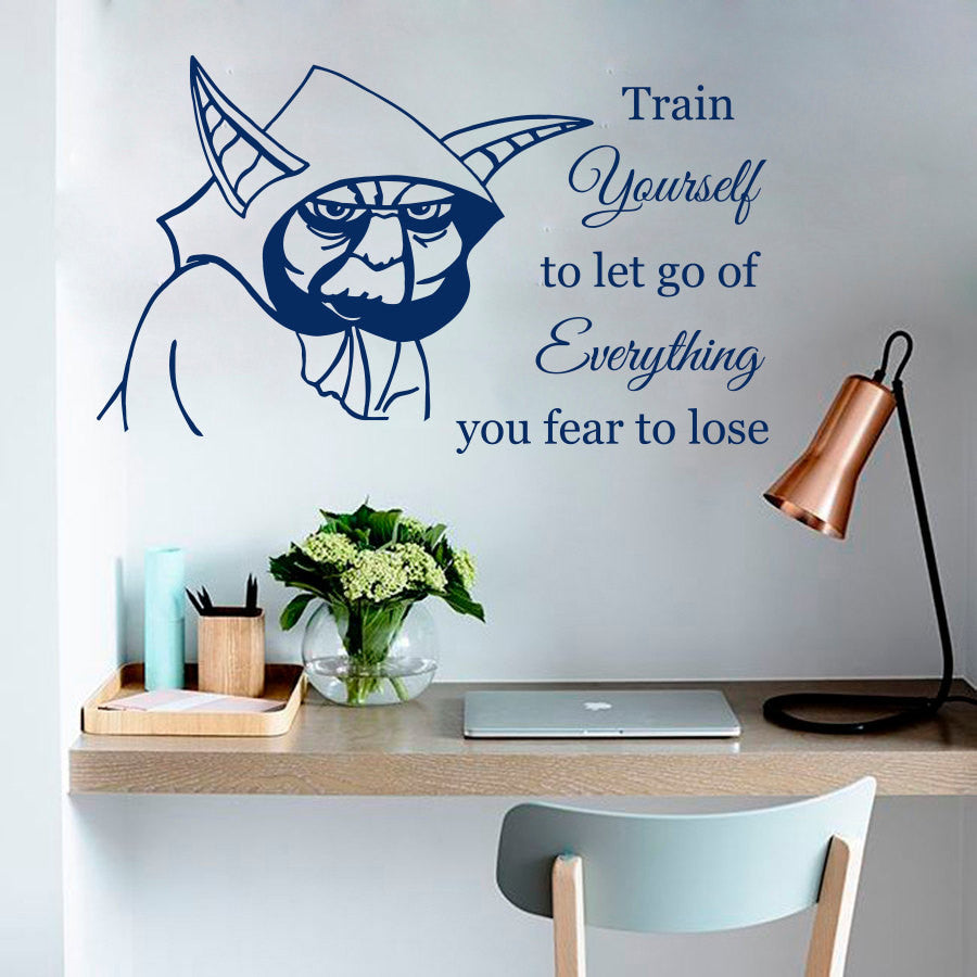 Wall Decals Jedi Master Yoda Star Wars Decals Girl Boy Room Kids Vinyl Sticker Home Decor Art Carving  Murals Removable M-67