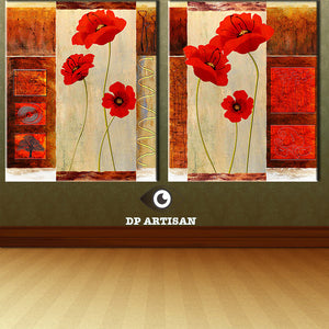 Free Shipping Hot Sell 2Panels Modern Wall Painting picture Home Decorative Art Picture Paint on Canvas Prints