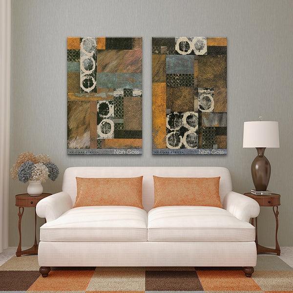 2PIECES MODERN ABSTRACT HUGE WALL ART OIL PAINTING ON CANVAS PRINT No FRAME