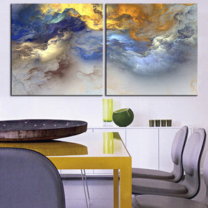 Large size 2pcs/set Print Oil Painting Wall painting NO2SET-9 Home Decorative Wall Art Picture For Living Room paintng No Frame