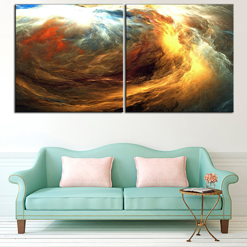 Large size 2pcs/set Print Oil Painting Wall painting NO2SET-5 Home Decorative Wall Art Picture For Living Room paintng No Frame