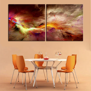 Large size 2pcs/set Print Oil Painting Wall painting NO2SET-8 Home Decorative Wall Art Picture For Living Room paintng No Frame