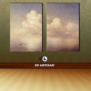 2 panel canvas art set  print cloud 16x24 inch wall painting  on canvas  oil painting  for wall pictures  for top sale decor