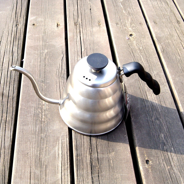 1pc 1.0L Hario Style  Tea and Coffee Drip Kettle pot stainless steel gooseneck spout Kettle hot water for Barista