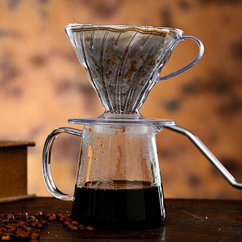 1PC  Free Shipping Espresso coffee machine  V60 Coffee Driper  V-02