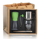 1Set Free Shipping Espresso Latte Cappuccino Coffee  Accessories Gift Box  coffee grinder+ Vietnamese pot + coffee travel mug