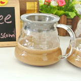 1PC Free Shipping Espresso Coffee Server Glass Coffee Pot Hario 500Ml Coffee Server