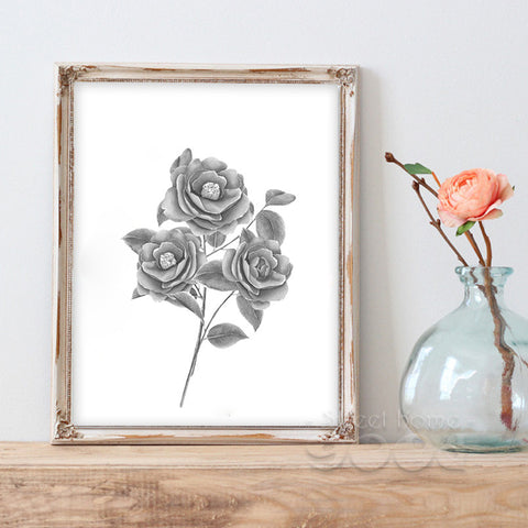 Vintage Rose Flower Canvas Art Print Painting Poster, Wall Picture for Home Decoration, Wall Decor CM030-7