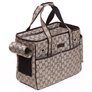 Pet Carrier Classic Printed  for Chihuahua Yorkie Puppy Travel Bag