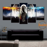 5 Panel Angel Girl Anime Demons Movie Poster Oil Painting Canvas Wall Art Painting For Living Room Print On Canvas Unframed