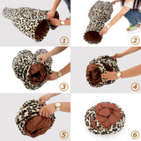 New Pet Tunnel Cat Play Tunnel Leopard Print Crinkly 3 Ways Fun Tunnel Kitten Play Toy Collapsible Rabbit Toys Bulk Cat Toys
