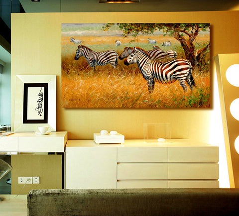 African Wild Animal Zebra Picture Canvas Prints Painting Modern Home Living Wall Decor