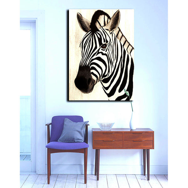 African Wild Animal Zebra Picture Printed on Canvas Painting Modern Home Living Wall Decor