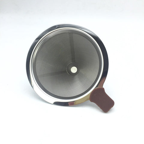 1-2 cups of coffee a portable stainless steel metal filter screen filter funnel / filter cup filters drip coffee and tea tools