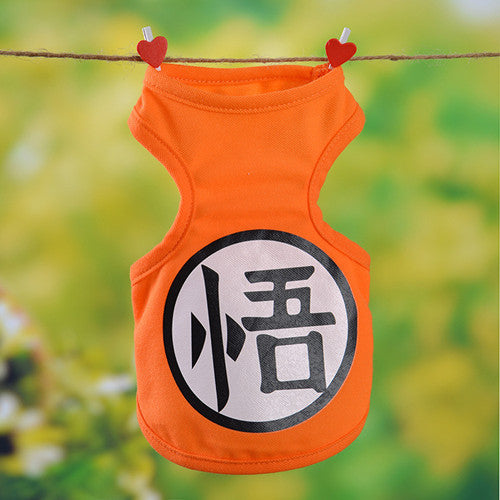New Dog Clothes Puppy Vest Pet Supplies Bikachu Cartoon Dog vests Cat Dog Clothing 10 Colors Small Dog Pet Coat Size:XS-2xl