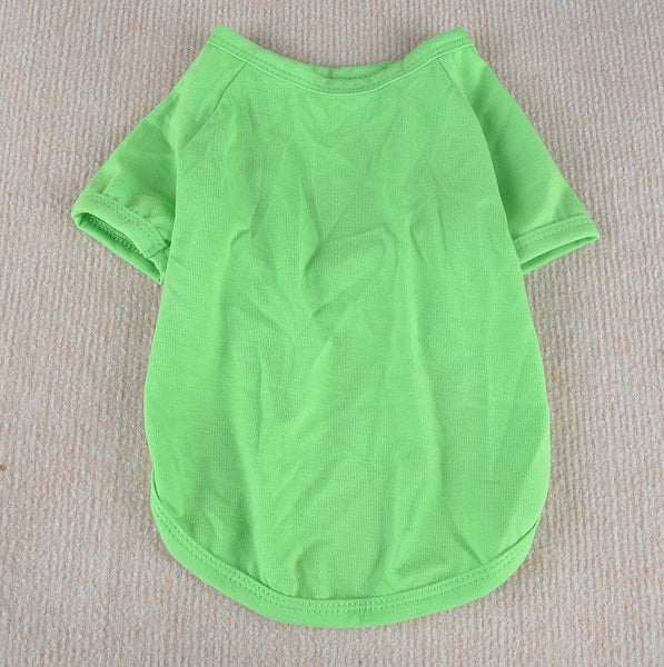 Dog Cotton T-shirt Pet Solid Clothes Clothing For Cat Dog Pajamas