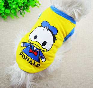 2015 New Pet Dog Clothes Cotton Sportwear Vest Cool Clothes Dog T-shirt for dogs Small Dog Cat Pet Clothes Vest T Shirt
