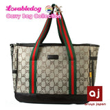 Luxury LD Printed Jacquard Dog Carrier Bag Breathable Pet Bag