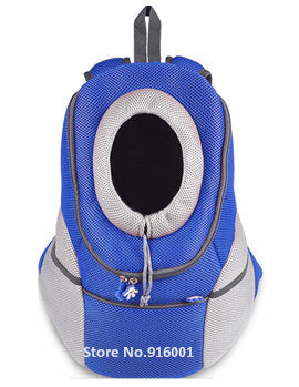Dog Travel Carriers Shoulder Bags Blue Mesh Head Out Dog Carriers