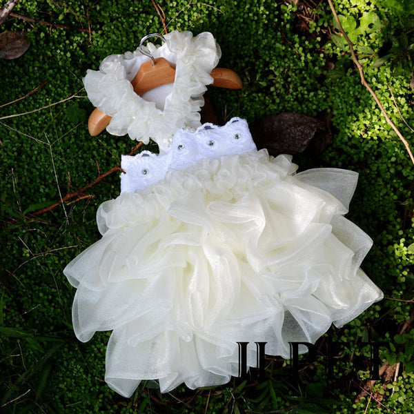 Dog Wedding Dress White Quality Dog Tutu Dresses