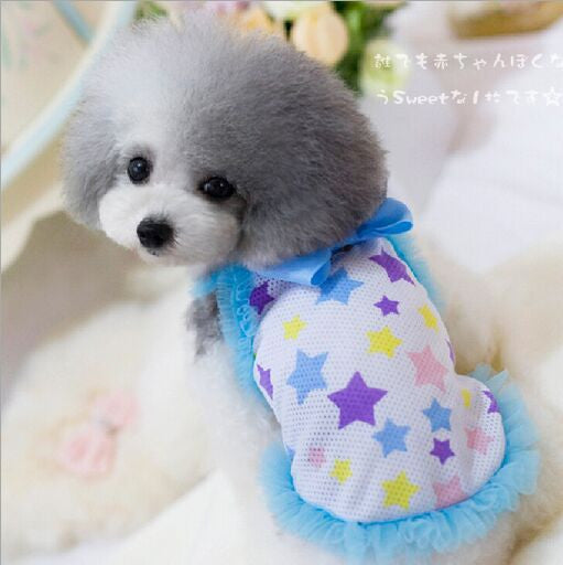 Hot Selling Girl Dog Clothes Summer Breathable Mesh Soft