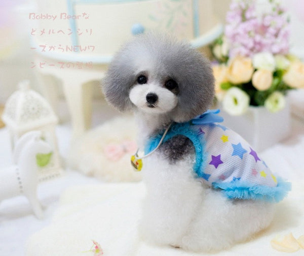 Hot Selling Girl Dog Clothes T Shirts with Satin Ribbon Bow