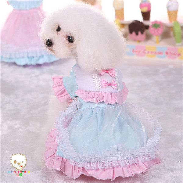 Dog Clothes Pet Dog Dress Summer Clothing for Small Dog Cat Wholesale Pet Products Cute Lolita Dog Skirt Chihuahua Teddy Yorkie