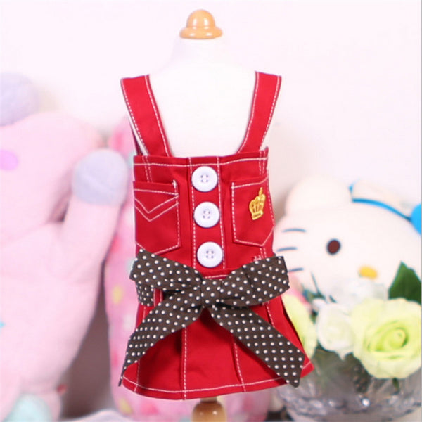 Arrival Pet Dog Clothes Cute Pet Dog Dresses Small Pet Summer Poodle Chihuahua Dog Skirt with Polka Dot Bow Pet Product