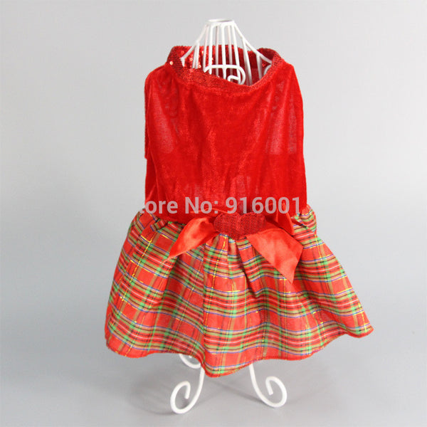 2016 New Arrival Cheap Dog Clothes Summer Dog Dress Cute Christmas