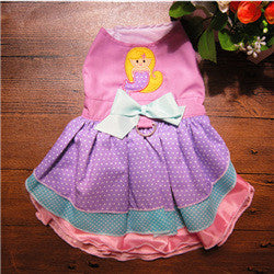 Dogs Princess Dresses Purple Cute Mermaid Polka High Quality Female