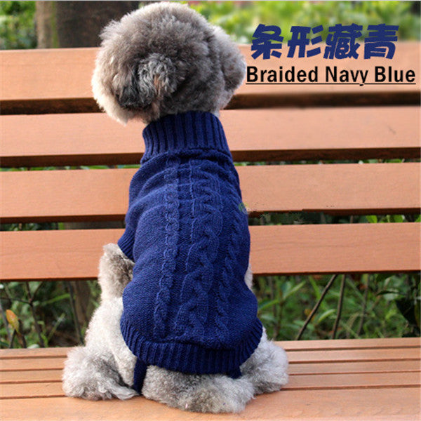 Dog Sweaters Autumn Winter Cute Pet Sweater for Cat Small Dogs Multi-Colors Basic Dog Coat Fashion Puppy Clothing for Pitbulls