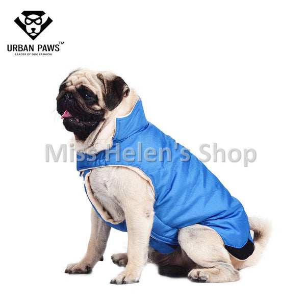 High Quality Big Dog Clothes Easy Wear Winter Dog Coat Fleece Lining Jacket Small Medium Large Dog Down Coat Elastic Belly S-5XL