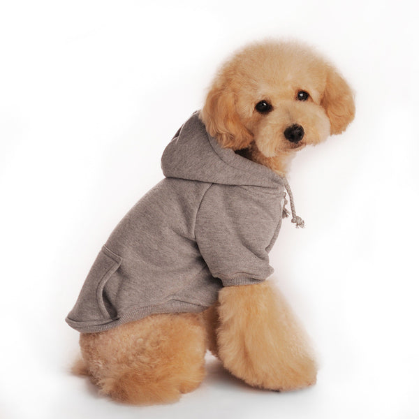 2016 Newest Quality&Classical Plain Dog Hoodies with Kangroo Pocket Solid Dog Sweatshirt Cotton Dog Blank Hoodies FREE SHIPPING