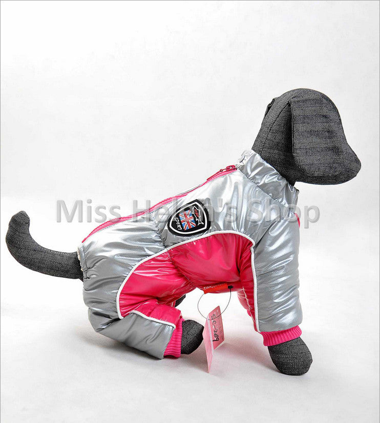 High Quality Super Warm Dog Coat Winter Down Jackets Small Dog Chihuahua Bull Dog Puffy Waterproof Pet Dog Clothes with 4 Legs