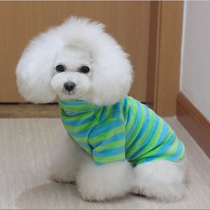 Camisas De Mascota 2016 New Arrival Puppy Pet Dog T Shirts for Teddy Clothes Spring/Autumn Stripes Dog Clothes 3 Colors