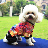 2016 Fashion Dog Clothes Small Dog Jacket Galaxy Printing Winter Dog Clothes Dog Jumpsuit Warm Dog Coat Chihuahua Pug Poodle
