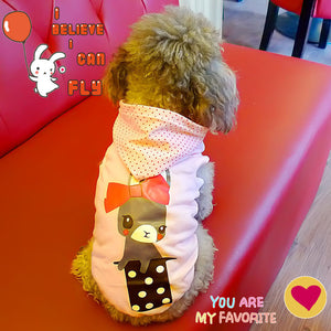Cotton Cute Pink Dog Hoodies Chihuahua Pink Dog Clothes