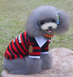 POLO Shirt Stripe Dog Clothes for Small Cat Dog
