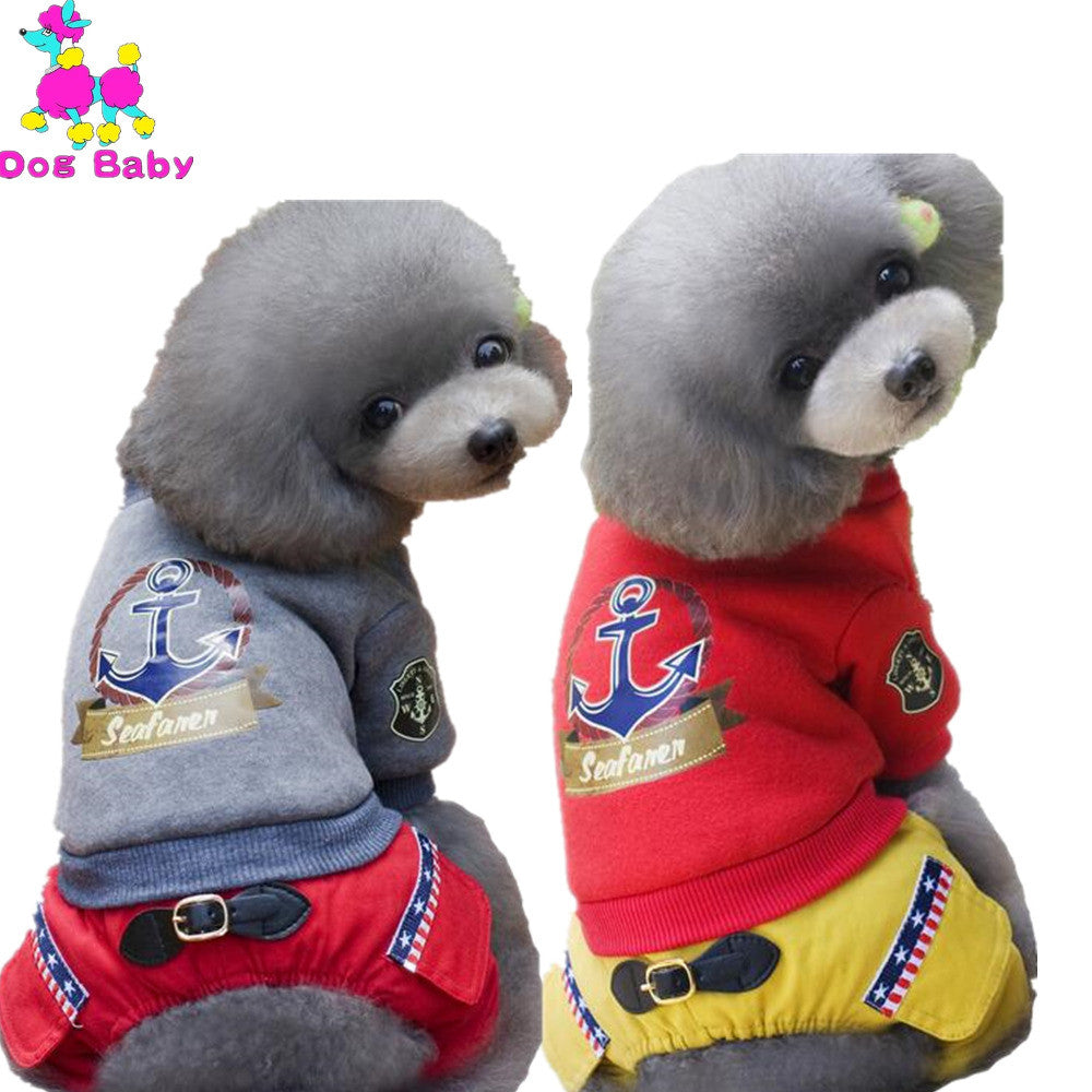 Print 100% Cotton Dog Coat Gray Red Color Warm Winter Pet Clothes Leisure Pets Jacket Clothing Free Shipping Size S M L XL XXL