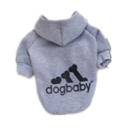Dogbaby 100% Cotton Dog Clothes Letter Pattern Autumn Winter Pet Coats New Style Yellow Red Black Gray Hoodies For Small Dogs