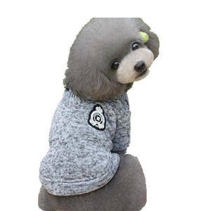 Solid 100% Cotton Winter Dog Clothes Blue Gray Color Pet Coat Fashion Jacket For Small Big Larger Dogs Free Shipping Size S-XXL
